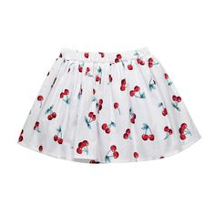 Cute Cherry Printed Girls Toddlers Kids Summer Cotton Short Skirt For Tutu Skirt Kids, Baby Girl Skirts, Kids Tutu, Tutus For Girls, Baby Girl Bottoms, Skirts For Kids, Child Models, Summer Kids, Printed Skirts