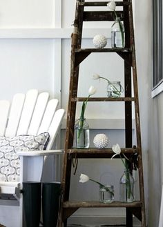 Musings Decorative Ladders Old Ladder Decor Wood Rustic Love Your
