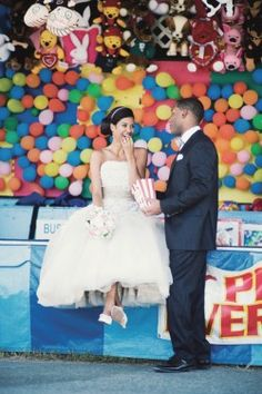 Bride and Groom at the Carnival