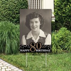 This Adult Birthday - Gold Photo Yard Sign - Outdoor Lawn Photo Decorations - Birthday Party Photo Decorations - Birthday Decorations is just one of the custom, handmade pieces you'll find in our banners & signs shops. 80th Birthday Party Decorations, 75th Birthday Parties, Happy 80th Birthday, Grandma Birthday, Adult Birthday Party, 90 Birthday Party Ideas, 70th Birthday Ideas For Mom, Birthday Party Decorations For Adults, Gold Birthday