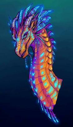 Billedresultat for wings of fire hybrid dragons Wings Of Fire Dragons, Cool Dragons, Magical Creatures, Fantasy Creatures, Fantasy Dragon, Fantasy Art, Nail Art Designs, Kobold, Dragon Artwork