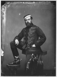 Future King Edward VII in the undress uniform of the 10the Hussars. Note that he is holding a cigar.