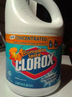 Who really needs Pumpkin Spice Clorox Bleach to wash your clothes? Here are 10 random products that Pumpkin Spice lovers will adore. Pumpkin Spice Bleach, Pumpkin Spice Meme, Shrek, Dankest Memes, Funny Memes, Hilarious, Funny Fails, Tastemade Japan, Filthy Memes