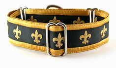 Gold Fleur: The Regal Hound - Unique fashionable designer martingale and buckle dog collars, from cute to fancy, humane and soft choke for all canine breeds