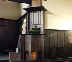 Pulpit of Queen's Cross Church Glasgow, designed by Charles Rennie Mackintosh