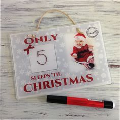 4004 Countdown to Christmas  way to countdown the days until Christmas Our acrylic countdown range can be written on with a whiteboard marker which is included  PRODUCT PERSONALISATION-ONE PHOTO CHANGE  A5 (148x210mm) £19.95  A4 (210x297mm) £25.95  A3 (297x420mm) £35.95  A2 (420x594mm) £65.00  A1 (594x841mm) £100.00  A0 (1200x900mm) £130.00