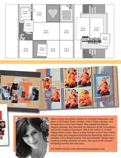 Scrapbook Generation: Two Page, Twelve Photo Layout, Four Square Photos, Seven Vertical Photos, One Horizontal Photo