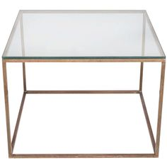 Milo Baughman Bronze and Glass End Table | Available at fullcirclemodern.1stdibs.com.
