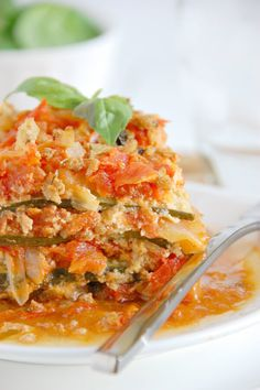 Zucchini Crock Pot Lasagna Recipe {Paleo, Gluten-Free, Clean Eating, Dairy-Free, Whole30}