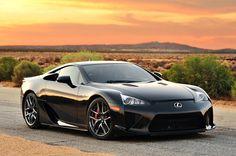 Black 2012 Lexus LFA
