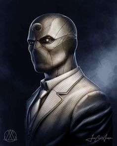 My personal redesign of Marvel's Moon Knight Character as if adapted for a full-length feature film. Marvel Comics Art, Marvel Comic Universe, Marvel Vs, Marvel Heroes, Comic Books Art, Comic Art, Marvel Moon Knight, Knight Art, Dark Knight