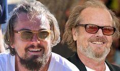 Leonardo DiCaprio is spitting image of Jack Nicholson Jack Nicholson, Leonardo Dicaprio, Receding Hair Styles, Mirrored Sunglasses, Mens Sunglasses, Spitting Image, Jack Black, Celebs, Celebrities