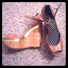 Brand new Jessica Simpson leather wedges Brand new Leather brown  wedges Jessica Simpson Shoes