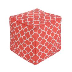Coral Pouf - the perfect modern piece to pair with a neutral glider in the nursery!