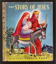 The Story of Jesus 1949 Vtg Childrens Little Golden Book 27 Christmas Gift Ideas