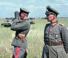 Generalleutnant Vollrath Lübbe (2.Panzerdivision) and Generalfeldmarschall Walter Model (9.Army) Unternehmen Zitadelle in summer 1943. #Wehrmacht #War #Ww2 #Wwii #WorldWar2 #WorldWar #History #Panzer