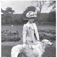1899 Borzoi The Duchess of Newcastle and her Borzoi