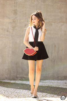 FashionCoolture - 26.03.2015 look du jour Dafiti black white preppy (1)