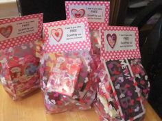 Goody bags for Hostesses and customers.  Show the LOVE!