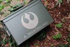 Personalized Ammo Box Groomsman Gift Box  by BackRoadsPZ on Etsy