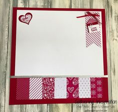 Sealed with Love Stamp Set & Sending Love Designer Series Paper, scrapbook page idea.  Amy Frillici, Stampin' Up! Demonstrator. 1000+ StampinUp & SUO card and scrapbook page ideas. Read more gatheringinkspiration.com...