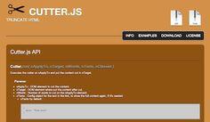 Cutter.js – Truncate HTML code to limit its length
