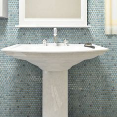 SomerTile 12x12.625-inch Penny Marine Porcelain Mosaic Floor and Wall Tile (10 tiles/10.2 sqft.)
