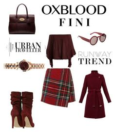 """Oxblood"" by fini-i ❤ liked on Polyvore featuring Sans Souci, Ted Baker, Marni, Mulberry and Marc by Marc Jacobs"