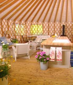 Yurt, by Sarah Richardson. Is it weird that I would like to have a yurt someday to vacation in?