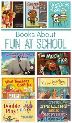 Books About Fun at School ~ 14 great books about riding the bus, picture day, teachers, art class, and so much Kids Reading, Teaching Reading, Fun Learning, Reading Club, Reading Books, Reading Lists, Preschool Books, Book Activities, Sequencing Activities
