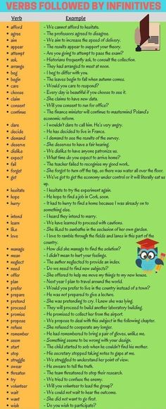 Verbs followed by infinitives. #essay #grammar #tips #essayvikings #writing #vocabulary
