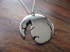 Lizard Necklace Pendant Silver. £40.00, via Etsy. @Sarah Rudow