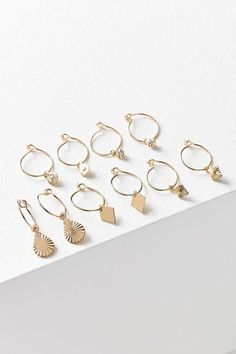 Shop Charmed Hoop Earring Set at Urban Outfitters today. We carry all the latest styles, colors and brands for you to choose from right here.