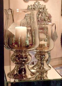 Howard Elliott Smokey Glass Huricane Small Vase