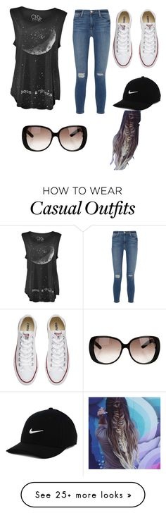 """""""Casual stuff"""" by mollymahina on Polyvore featuring Frame Denim, Converse, Gucci…"""