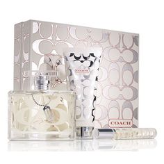 Coach Signature Holiday Gift Set includes: Coach Signature Eau de Toilette Spray oz, Coach Signature Body Lotion oz and Coach Signature Eau de Parfum Rollerball oz.