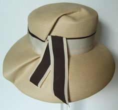 1960's Bergdorf Goodman New York summer Panama hat