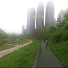 walking route which is very beoutfull stream in GangNam , Seoul