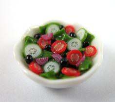 Dollhouse Miniature Food Tomato and Cucumber by littletimewasters