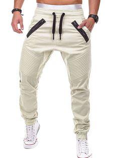 Heflashor brand Men Casual Pants Joggers Solide Mehrfach-Kordelzughose Jogginghose The Jogger Pants Style, Mens Jogger Pants, Men Trousers, Cargo Pants Men, Mens Sweatpants, Women Pants, Sport Pants, Short Boxe, Casual Pants