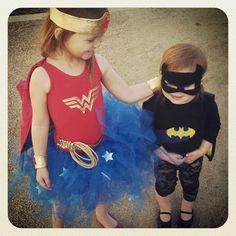 wonder woman // batgirl costumes