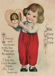 Image shared by Find images and videos about postcard and vintage valentine on We Heart It - the app to get lost in what you love. Free Valentines Day Cards, Valentine Images, Valentines Greetings, My Funny Valentine, Vintage Valentine Cards, Valentines For Boys, Vintage Greeting Cards, Vintage Postcards, Vintage Images