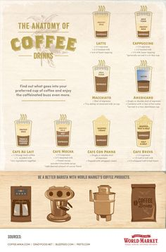 The Anatomy of Coffee Drinks| Cost Plus World Market