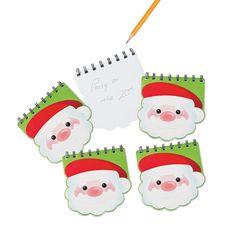 Santa Spiral Notebooks - OrientalTrading.com