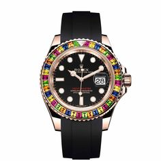 Rolex Yacht-Master 40 with Gem-Set Bezel -  This Rolex Yacht-Master 40 with Gem-Set Bezel (reference 116695 SATS) is not too big and very, very colorful  -  Your Watch Hub