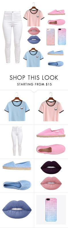 """Honey Bunny"" by really-rayy ❤ liked on Polyvore featuring Superga, FIORINA, Lime Crime and Sonix"