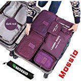 mossio 7Set Cubos de embalaje con bolsa para zapatos–Viajes de compresión Equipaje Organizador