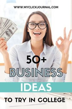 50+ Business Ideas for Students and College Women   myclickjournal Business Ideas For Students, Great Business Ideas, Start A Business From Home, Starting A Business, Student Jobs, College Students, Best Startup Ideas, Business Marketing, Online Business