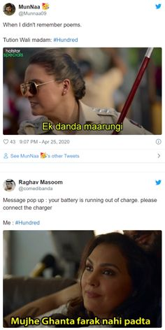 Amid lockdown, OTT platfomrs are in high demand. Hotstar released a series called Hundred and it has inspired number of memes. Funny Teenager Quotes, Funny Text Memes, Funny Friend Memes, Sarcastic Jokes, Funny Quotes For Teens, Funny Picture Quotes, Funny Relatable Memes, Funny Texts, Extremely Funny Memes