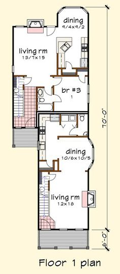 Multi unit 2 bedroom condo plans google search modern for Multi family condo plans